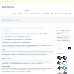 Choose Reliable Fashion Magazine Printing
