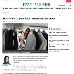 'Slow fashion' a poor fit for mainstream consumers