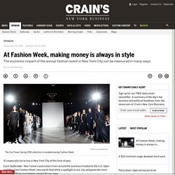 Op-Ed: With Fashion Week, making money is always in style