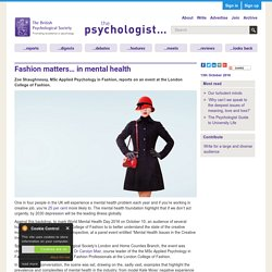 Fashion matters… in mental health