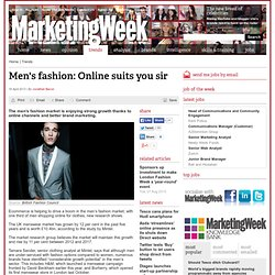 Men's fashion: Online suits you sir