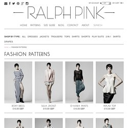 FASHION PATTERNS – Ralph Pink