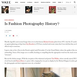 Is Fashion Photography History?