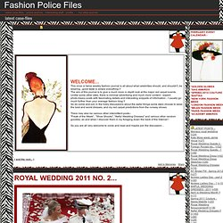 Fashion Police Files