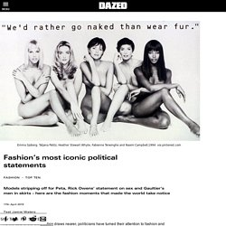 Fashion's most iconic political statements