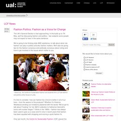 Fashion Politics: Fashion as a Voice for Change?