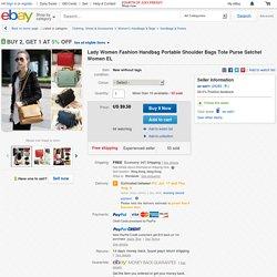Lady Women Fashion Handbag Portable Shoulder Bags Tote Purse Satchel Women El