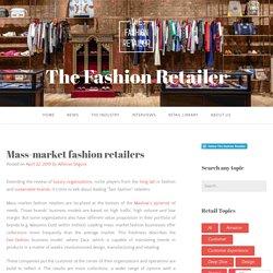 Mass-market fashion retailers – The Fashion Retailer