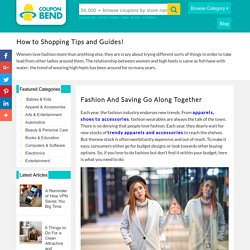 Fashion And Saving Go Along Together