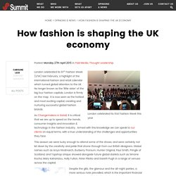 How fashion is shaping the UK economy