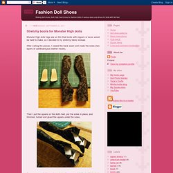 Stretchy Boots For Monster High Dolls