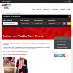 Fashion and Textiles Short Courses