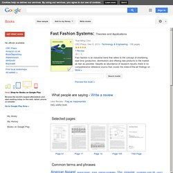 Fast Fashion Systems: Theories and Applications