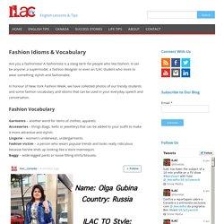 Fashion Idioms & Vocabulary
