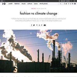 fashion vs climate change