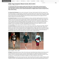MilanFW: Top 5 Fashion Week-trends 2014-2015