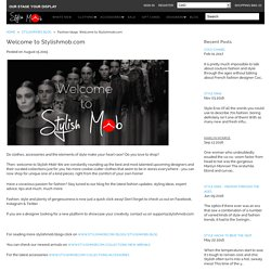 Fashion blogs: Welcome to Stylishmob.com