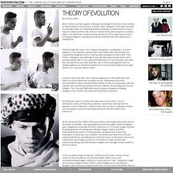 FASHION156 - The London Collections Men SS13 Review Issue / Features / Theory Of Evolution