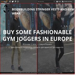 Buy Some Fashionable Gym Joggers In Europe - Bodybuilding Stringer Vests and Gym Wear