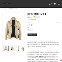 Fashionable Motorcycle Bomber Jacket