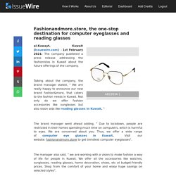 Fashionandmore.store, the one-stop destination for computer eyeglasses and reading glasses