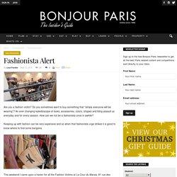 Fashionista Alert