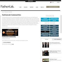 Communautés FashionLab - FashionLab