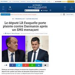Le député LR Fasquelle porte plainte contre Darmanin après un SMS menaçant