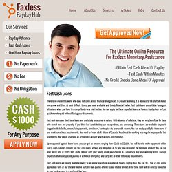 Fast Cash Loans – Faxless Payday Hub