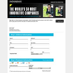 Fast Company Customer Service