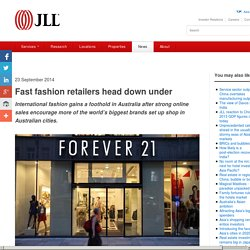 Fast fashion retailers head down under