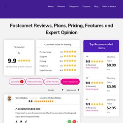 Fastcomet Hosting Reviews - Updated Data on Speed and More..