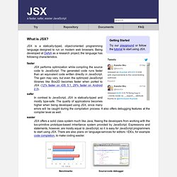JSX - a faster, safer, easier alternative to JavaScript - UX