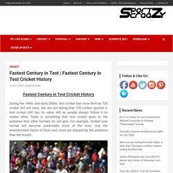 Fastest Century in Test Cricket History