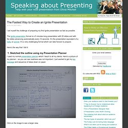 The Fastest Way to Create an Ignite Presentation