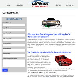Fastest Car Removals - Cash For Cars Fast