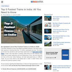 Top 5 Fastest Trains in India: All You Need to Know