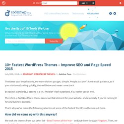 10+ Fastest WordPress Themes (2015 Edition)