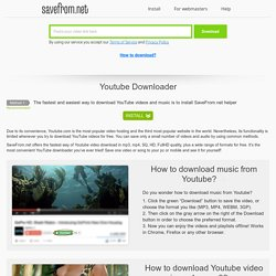 The fastest free YouTube Downloader (read my comment)