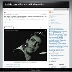 fastidio :: pornblog and radical sexuality