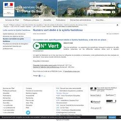 PREFECTURE DE CORSE DU SUD 04/08/15 Numéro vert dédié à la xylella fastidiosa