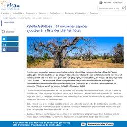 EFSA 28/04/20 Xylella fastidiosa : 37 nouvelles espèces ajoutées à la liste des plantes hôtes