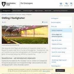 Odling i fastigheter - foretag.stockholm.se