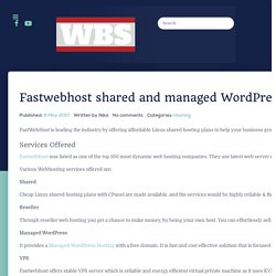 Fastwebhost Review for shared webhosting service 2017
