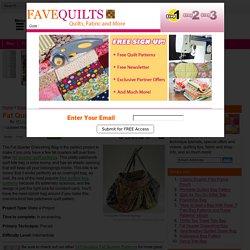 Fat Quarter Drawstring Bag