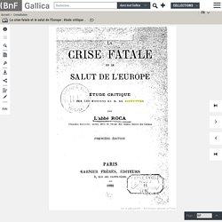 """1885 étude critique des """"Missions"""" par l'abbé Roca"""