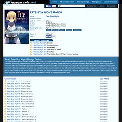 Fate-Stay Night Manga - Read Fate-Stay Night Online For Free