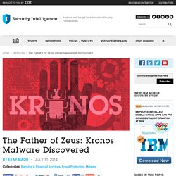 The Father of Zeus: Kronos Malware Discovered