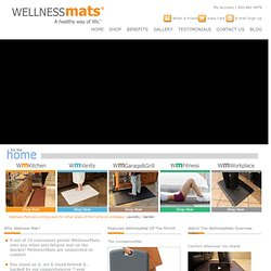 Anti fatigue mats | Kitchen Mats | Garage Mats | WellnessMats