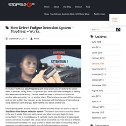 How Driver Fatigue Detection System Works